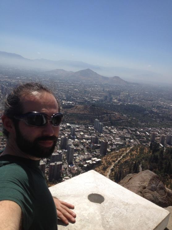 Me overlooking Santiago
